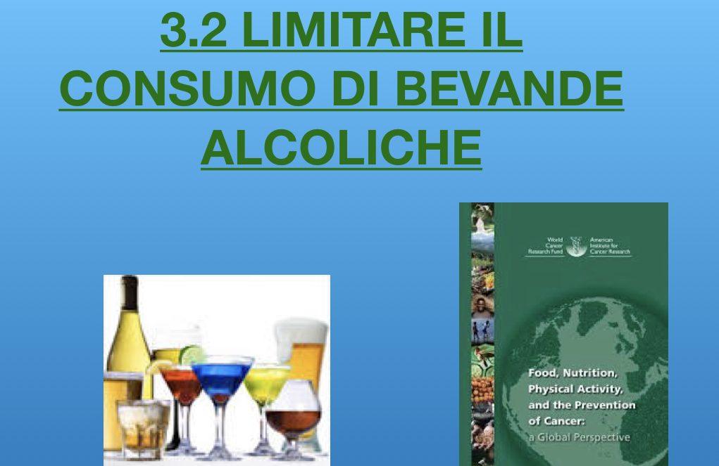 Limitare il consumo di bevande alcoliche per la prevenzione oncologica